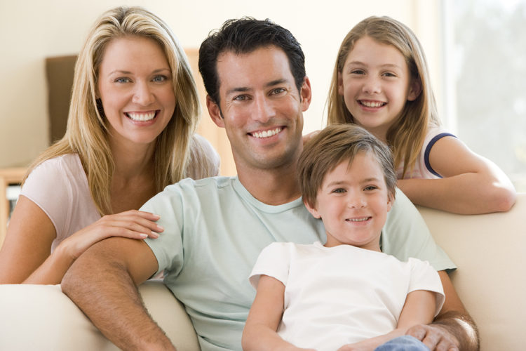 happy family with healthy teeth